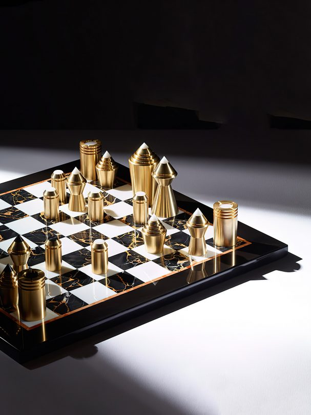 Chess & Draughts Luxury Designer Board Game Collection - Bert Frank - PARTIBUS CHESS SET