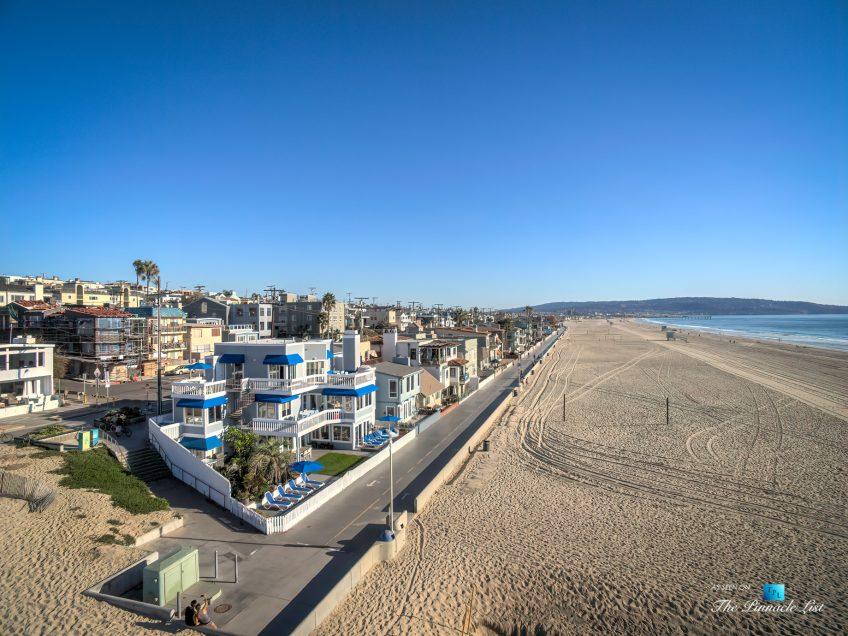 3500 The Strand, Hermosa Beach, CA, USA – Drone Aerial Beach View - Luxury Real Estate – Original 90210 Beach House