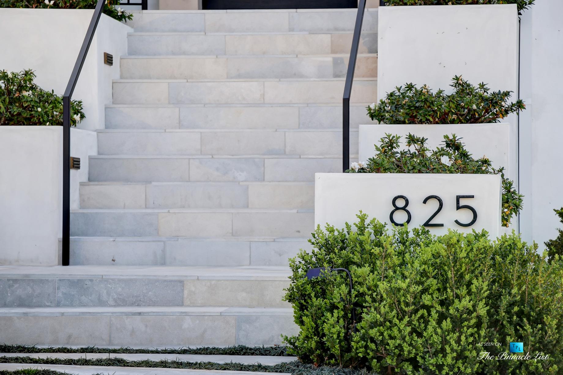 825 Highview Ave, Manhattan Beach, CA, USA - Luxury Real Estate - Modern Spanish Home Exterior Stairs