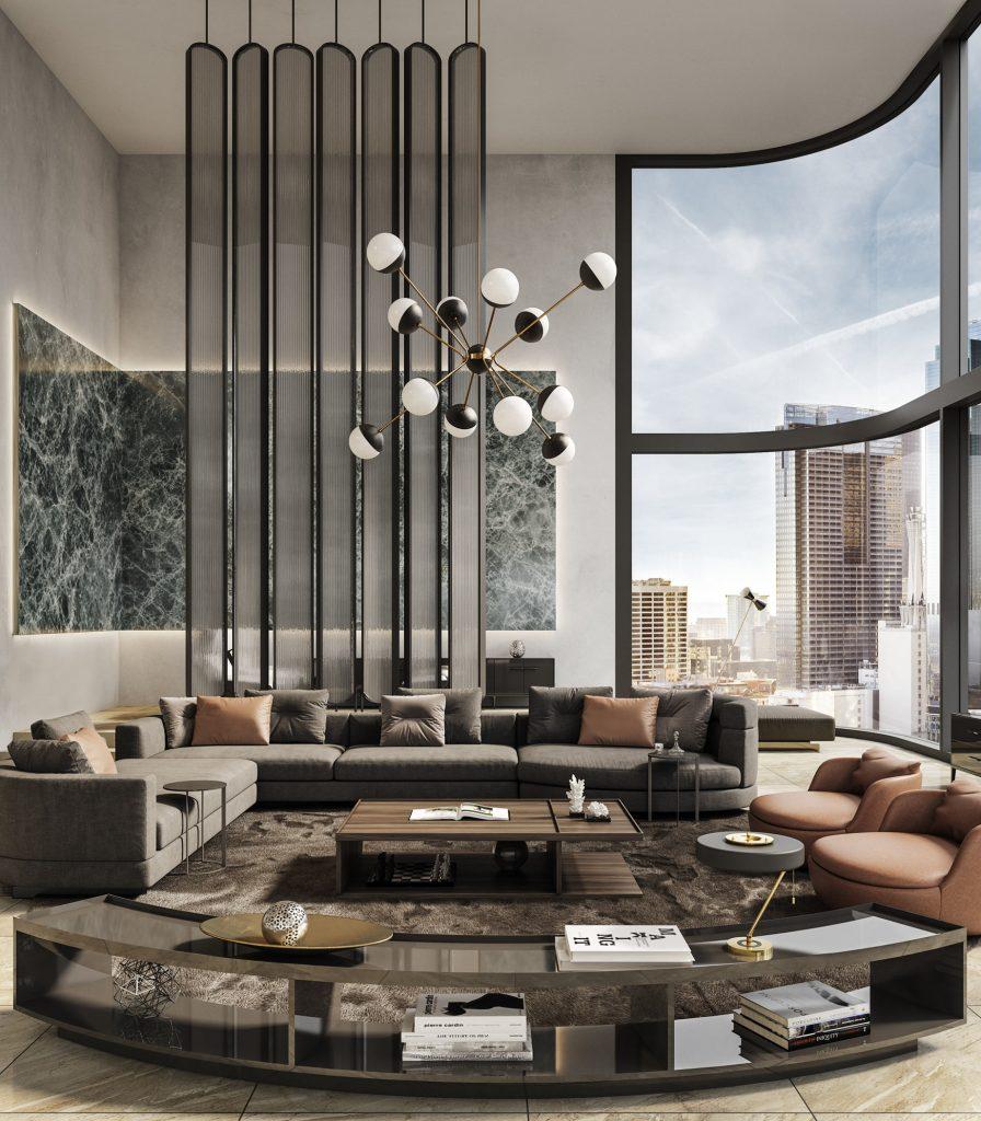 Penthouse Interior Design Los Angeles, CA, USA - Georgios Tataridis