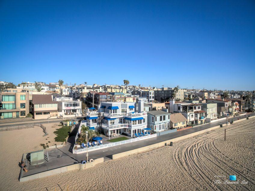 3500 The Strand, Hermosa Beach, CA, USA – Drone Aerial Home View - Luxury Real Estate – Original 90210 Beach House