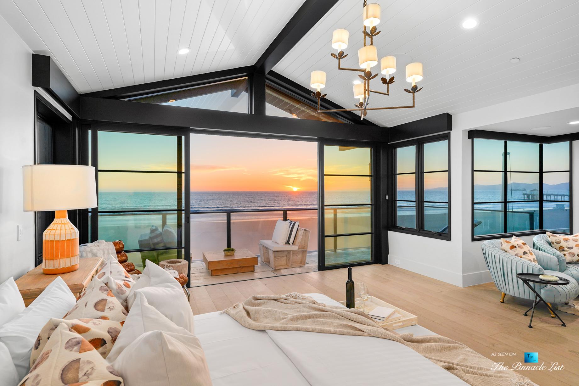 508 The Strand, Manhattan Beach, CA, USA – Twilight Master Bedroom Room – Luxury Real Estate – Oceanfront Home