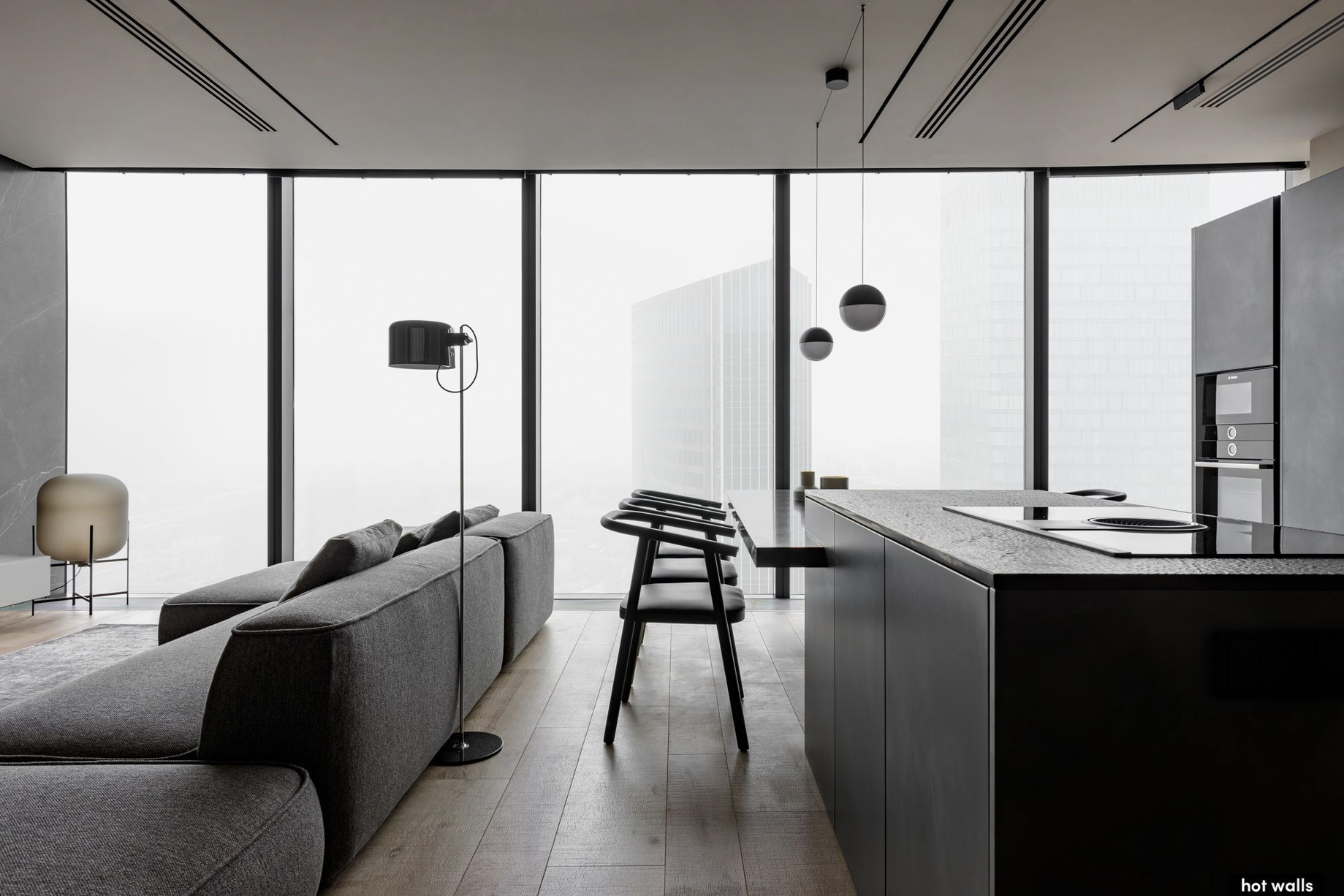 Federation Tower 79th Floor Apartment Interior Moscow, Russia - Hot Walls