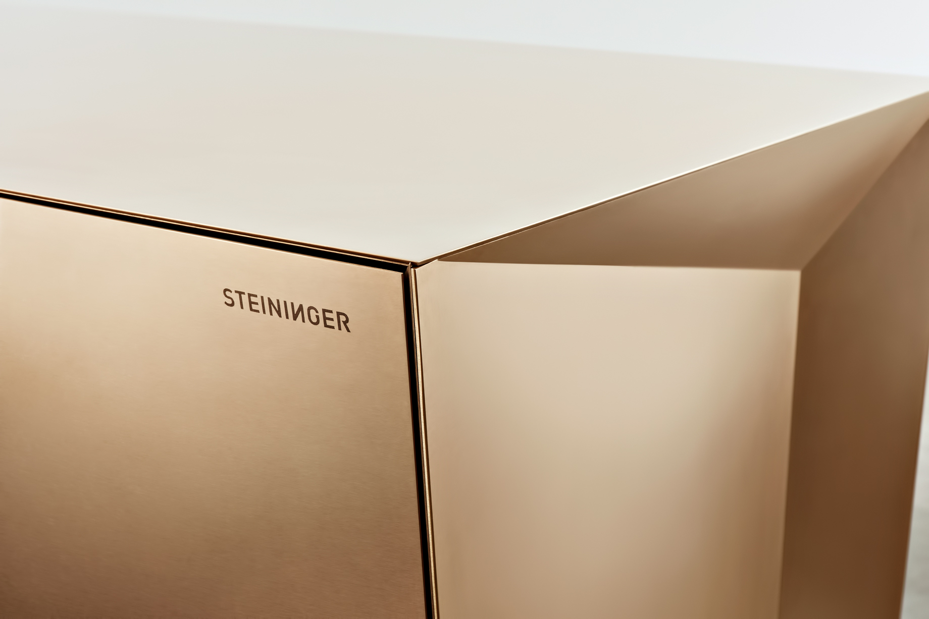 Iconic Steininger FOLD High Tech Kitchen Block Design Inspired by Origami – Digitally construced with special production technology for precise surfaces