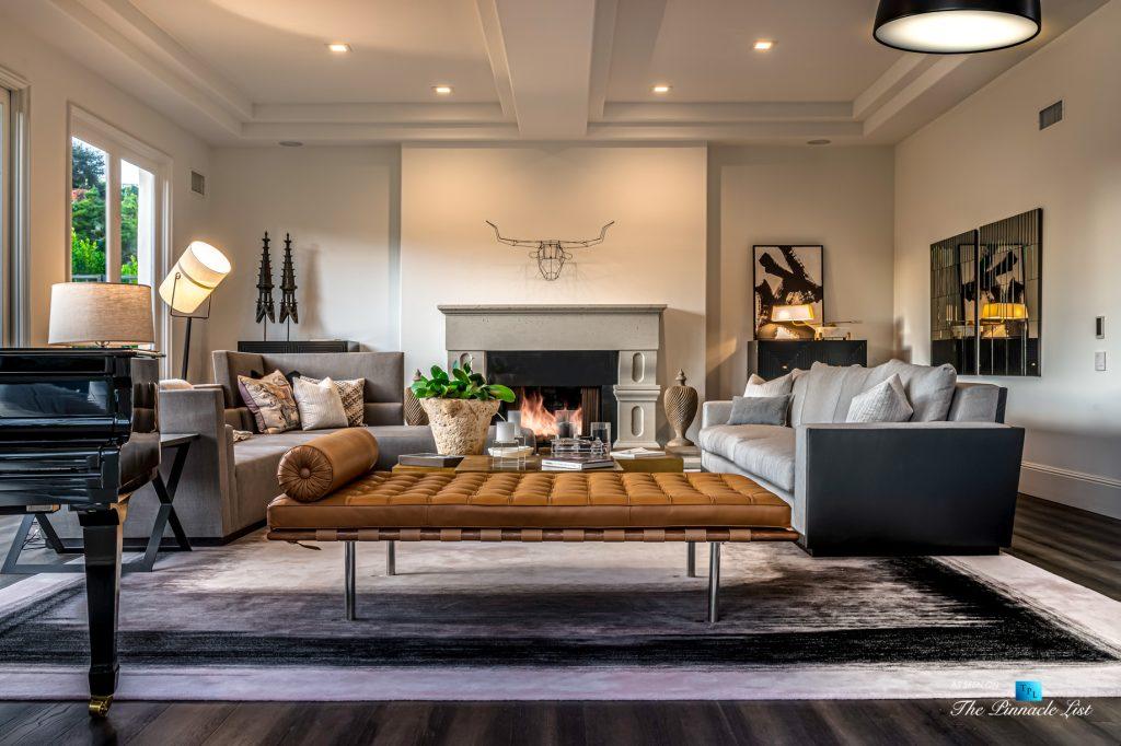 2720 Ellison Dr, Beverly Hills, CA, USA - Living Room - Luxury Real Estate - Italian Villa Hilltop Home