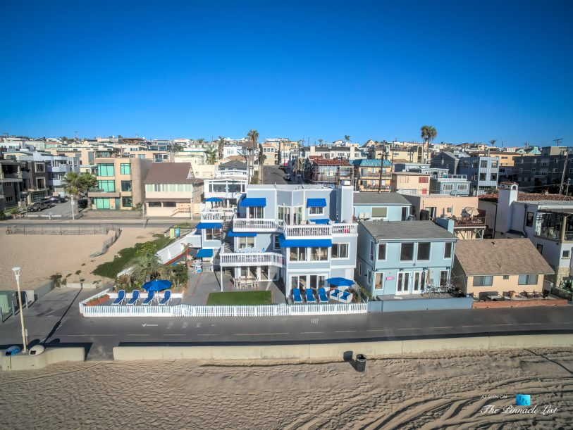 3500 The Strand, Hermosa Beach, CA, USA – Drone Aerial Front Home View - Luxury Real Estate – Original 90210 Beach House