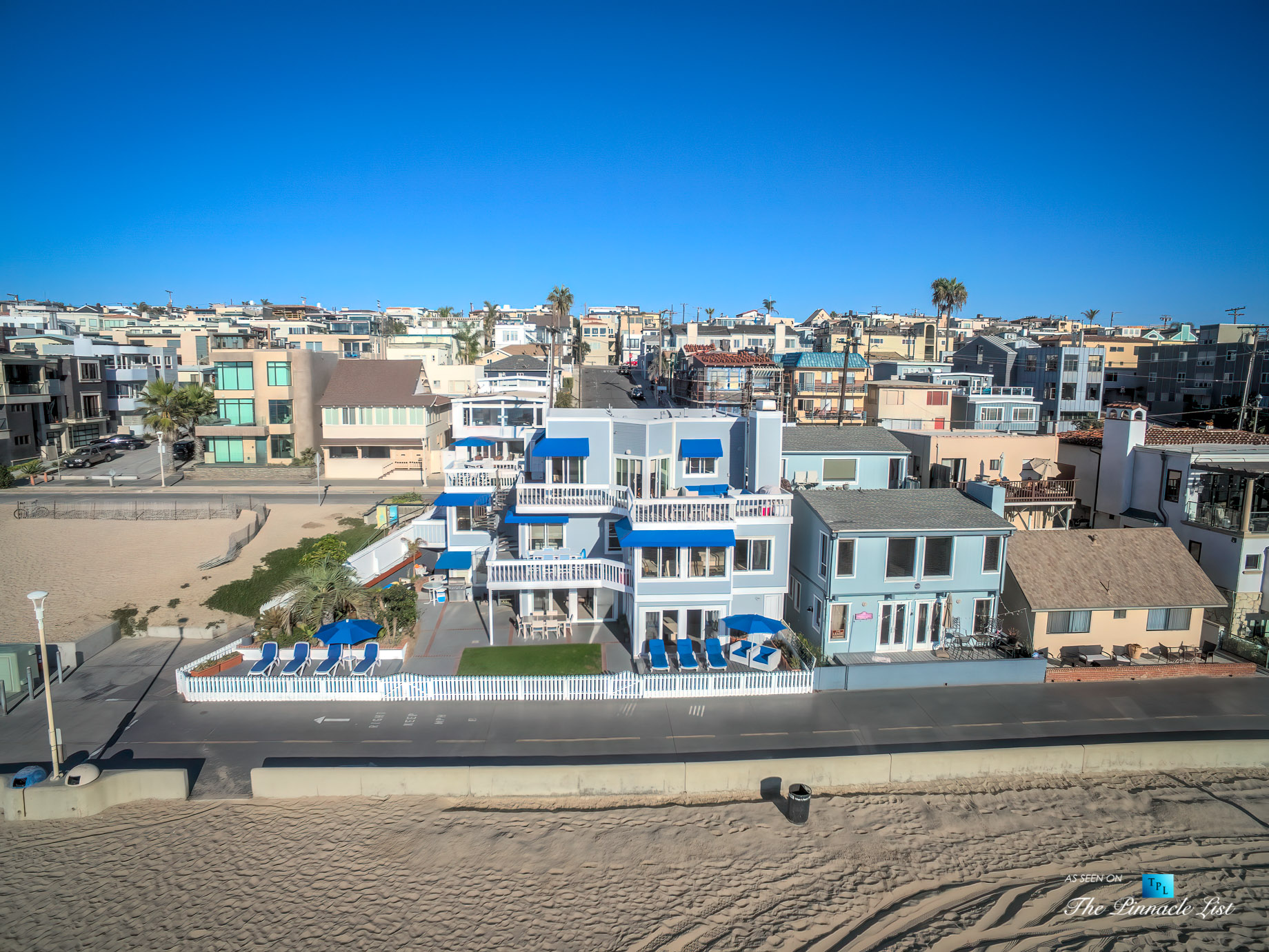 3500 The Strand, Hermosa Beach, CA, USA – Drone Aerial Front Home View – Luxury Real Estate – Original 90210 Beach House