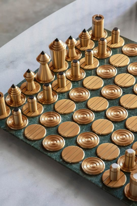 Chess & Draughts Luxury Designer Board Game Collection - Bert Frank - MAD QUEEN CHESS SET