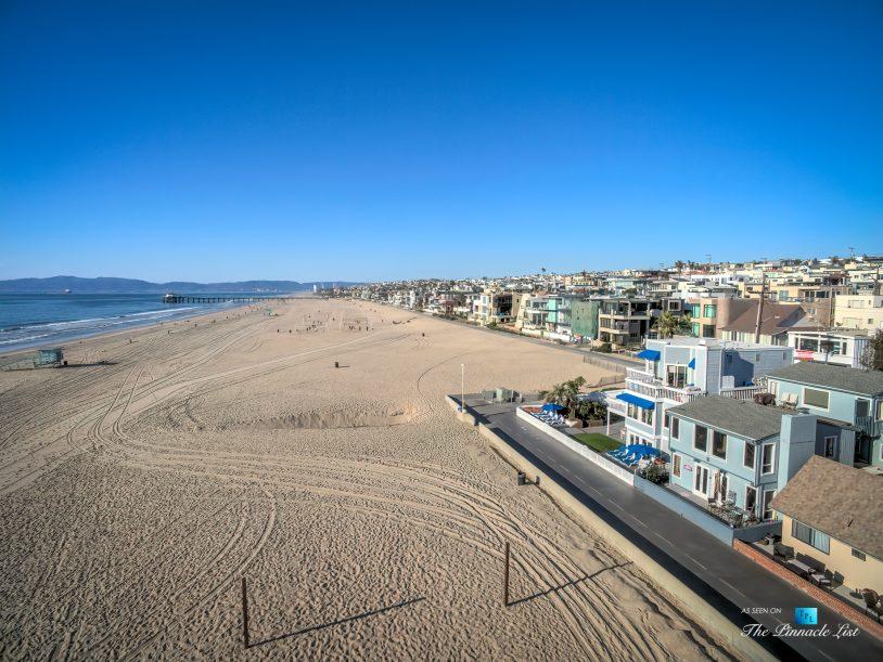 3500 The Strand, Hermosa Beach, CA, USA – Drone Aerial The Strand Beach View - Luxury Real Estate – Original 90210 Beach House