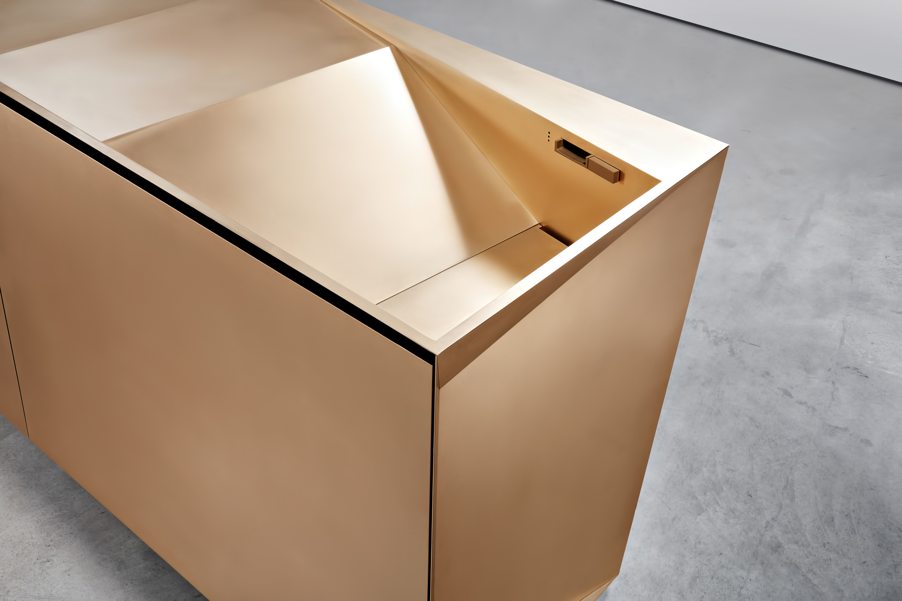 Iconic Steininger FOLD High Tech Kitchen Block Design Inspired by Origami - Folding takes on a functional form