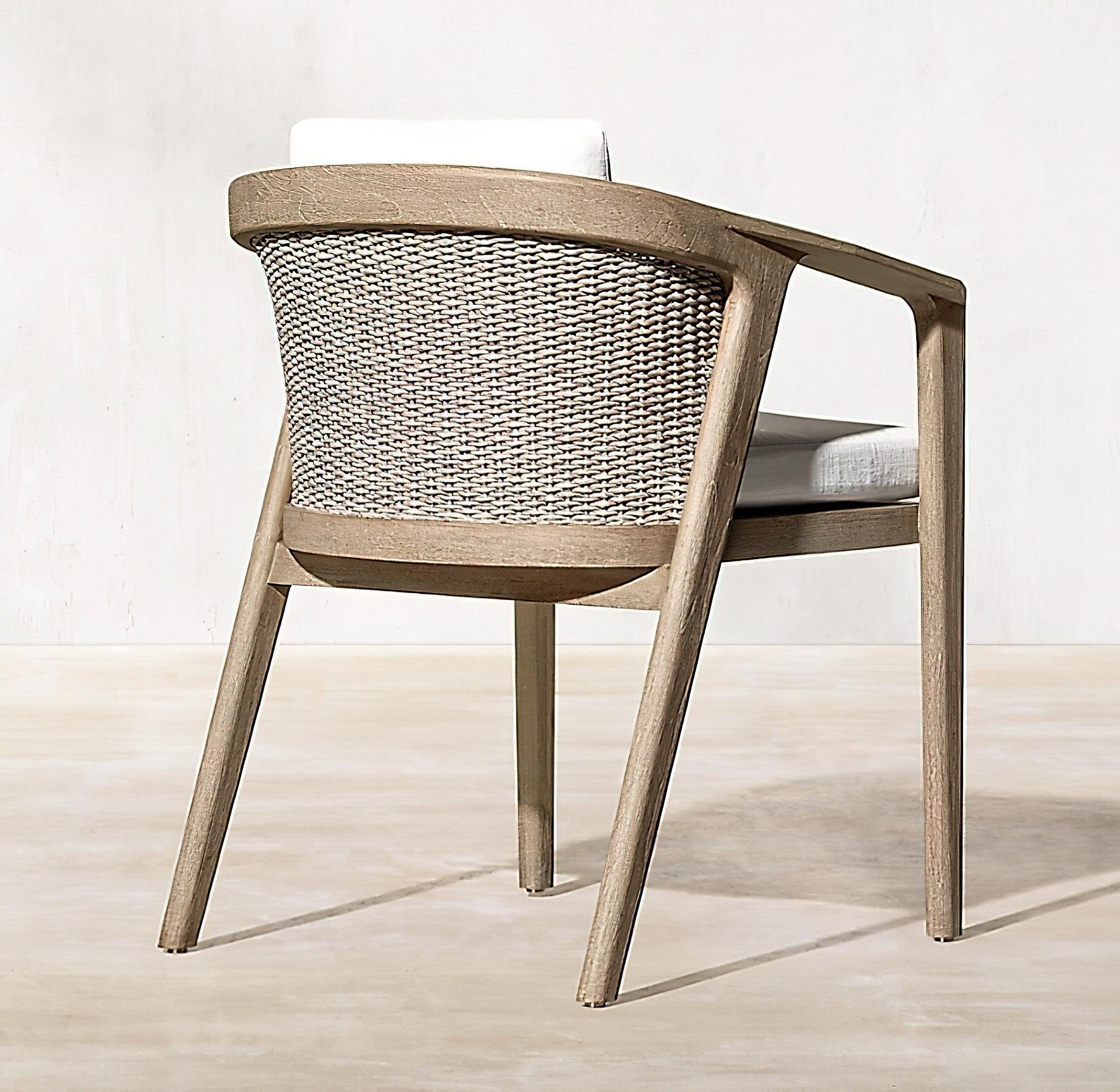 Malta Teak Collection Outdoor Furniture Design for RH – Ramon Esteve – Malta Teak Armchair