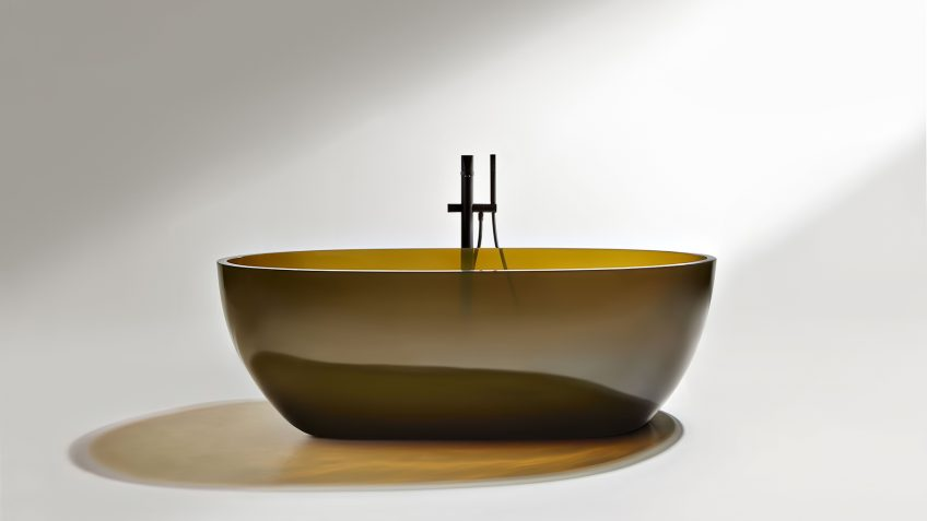Transparent REFLEX Cristalmood Resin Luxury Bathtub by AL Studio - Gran Cru