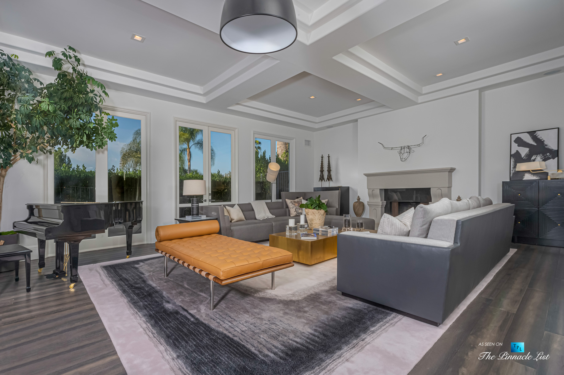 2720 Ellison Dr, Beverly Hills, CA, USA – Living Room – Luxury Real Estate – Italian Villa Hilltop Home