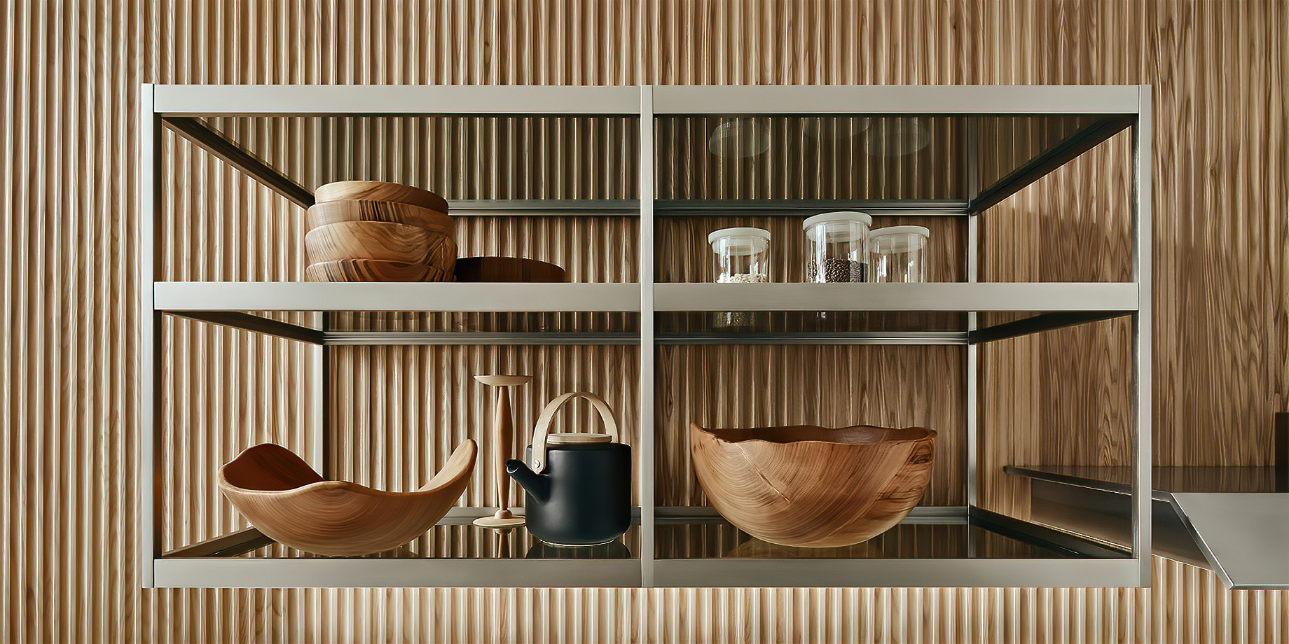 K-lab Contemporary Kitchen Ernestomeda Italy – Giuseppe Bavuso – K-System Wall Unit