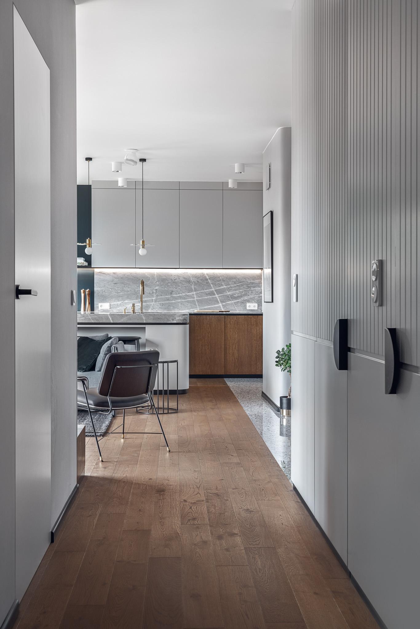 Szymanowskiego Apartment Interior Gdansk, Poland - Raca Architekci