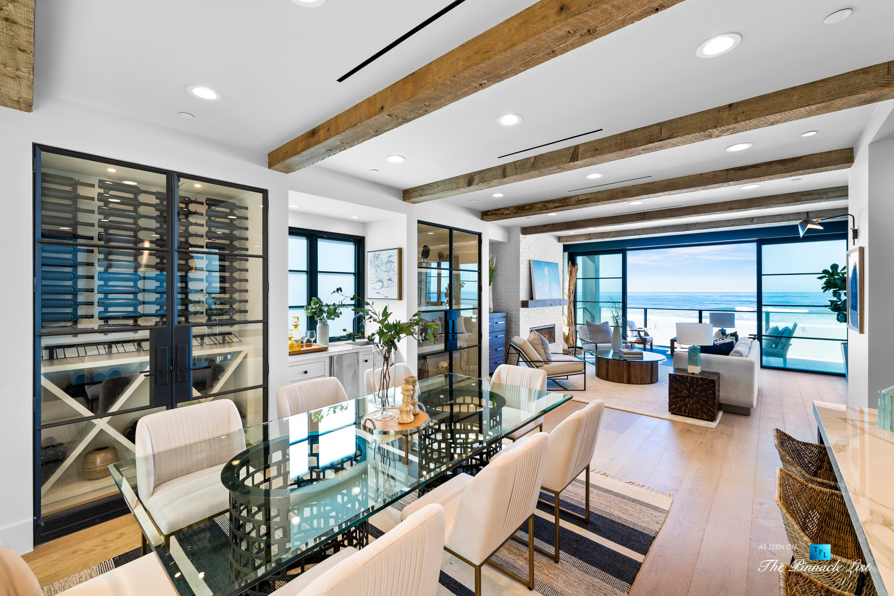 508 The Strand, Manhattan Beach, CA, USA - Dining and Living Room - Luxury Real Estate - Oceanfront Home