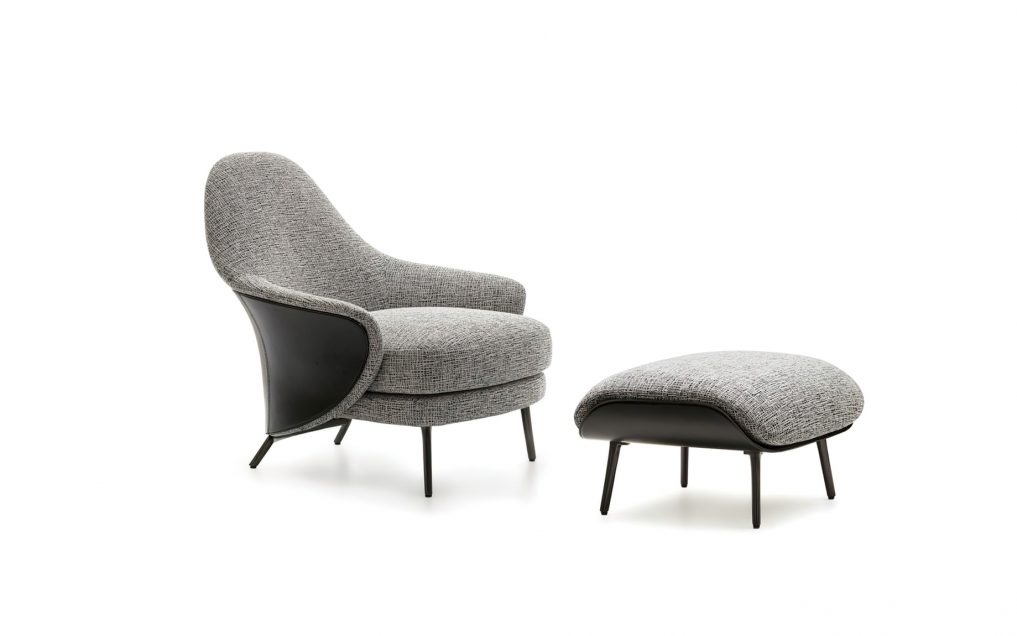 Angie Armchair Collection a Sculptural Gesture by Minotti, Italy - GamFratesi
