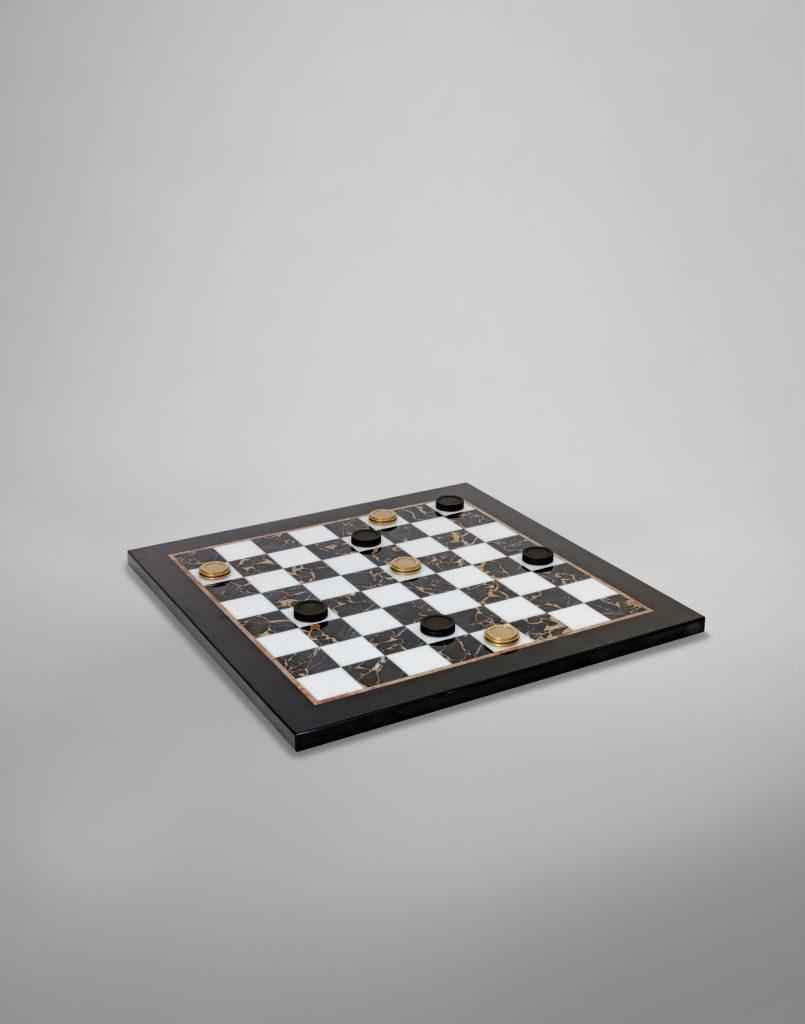 Chess & Draughts Luxury Designer Board Game Collection - Bert Frank - HATASU CHECKERS SET