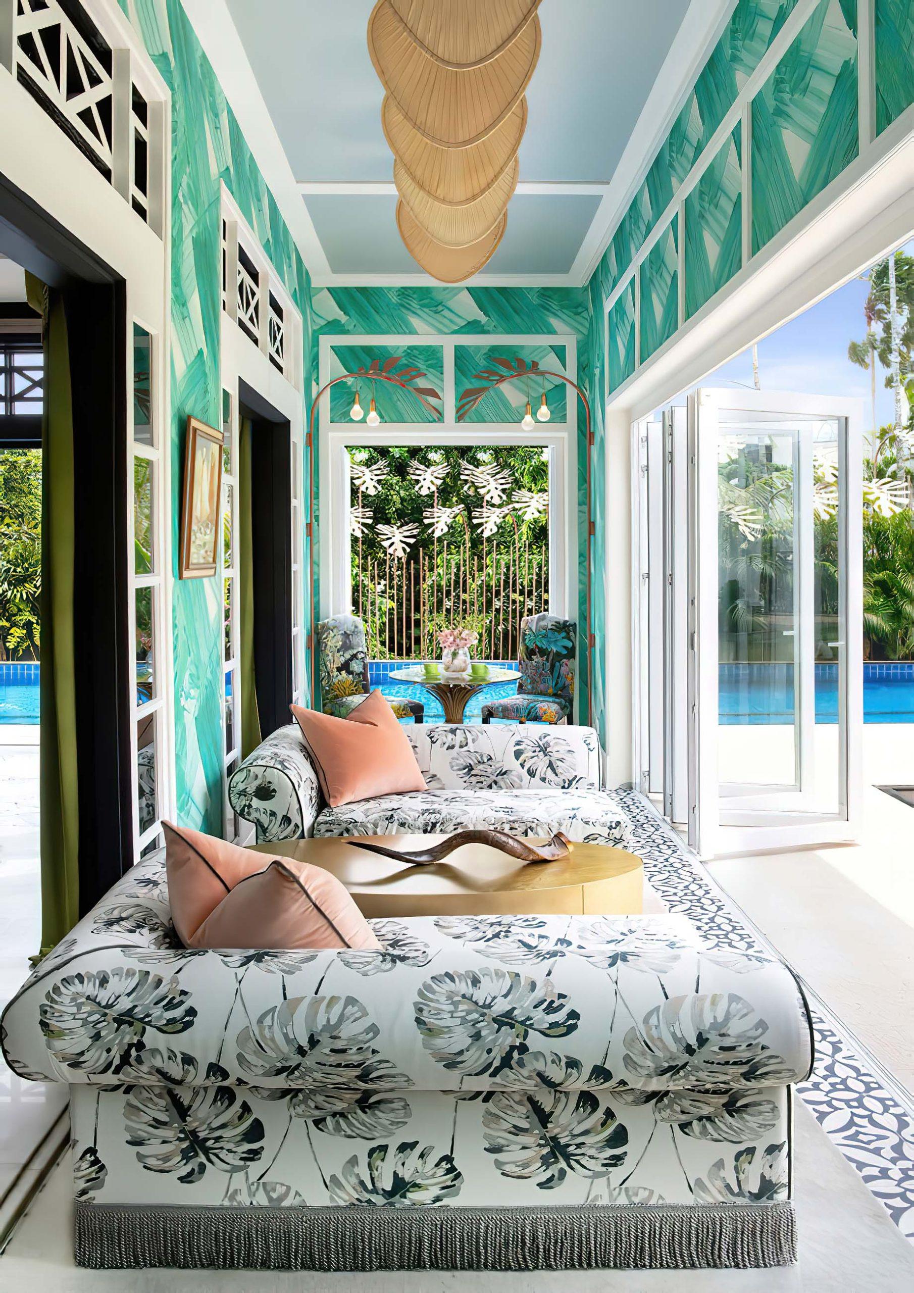 Tropical Maximalist Home Interior Singapore – Design Intervention