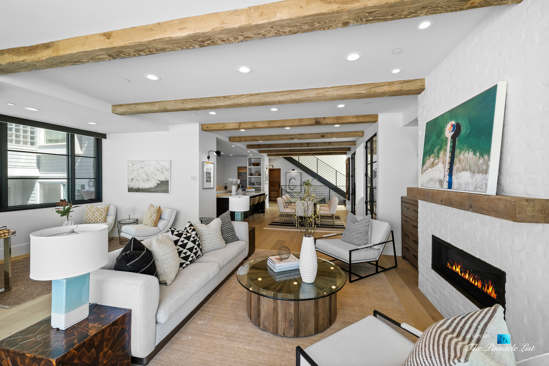 508 The Strand, Manhattan Beach, CA, USA - Living Room and Kitchen - Luxury Real Estate - Oceanfront Home