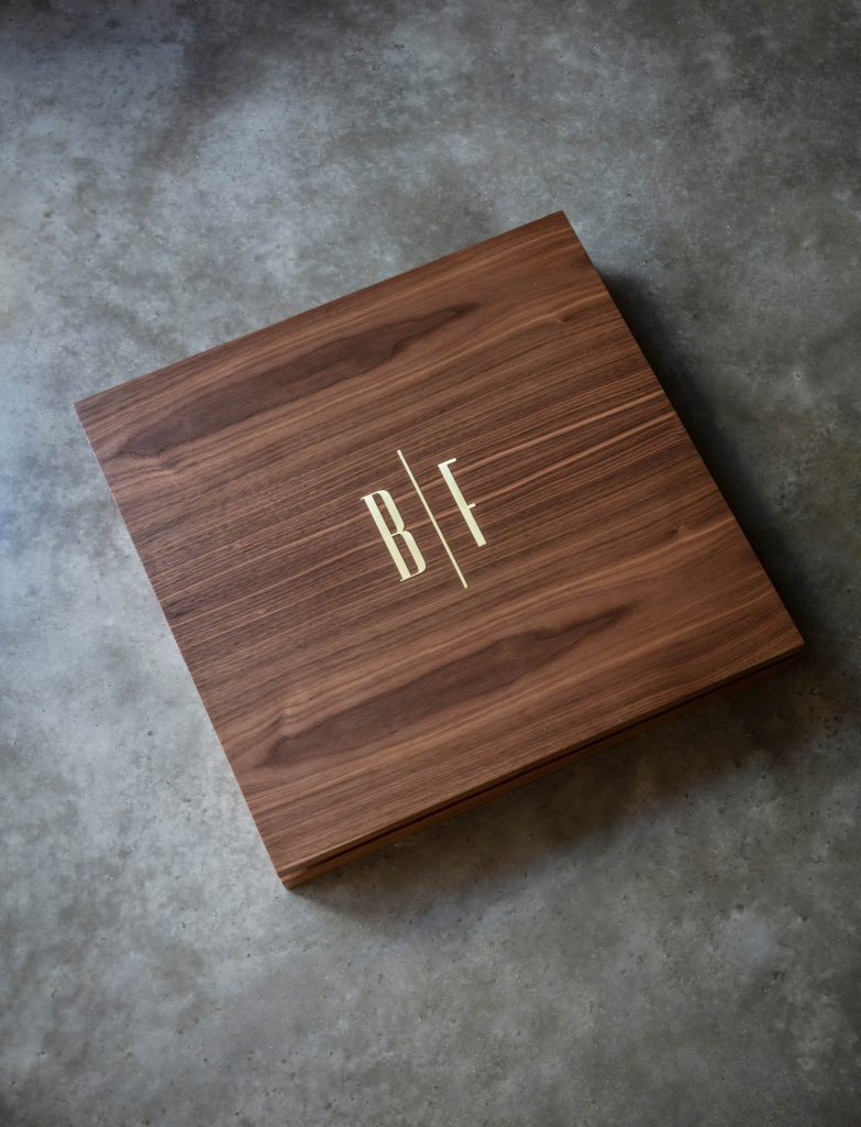 Chess & Draughts Luxury Designer Board Game Collection - Bert Frank - WALNUT SET CASE