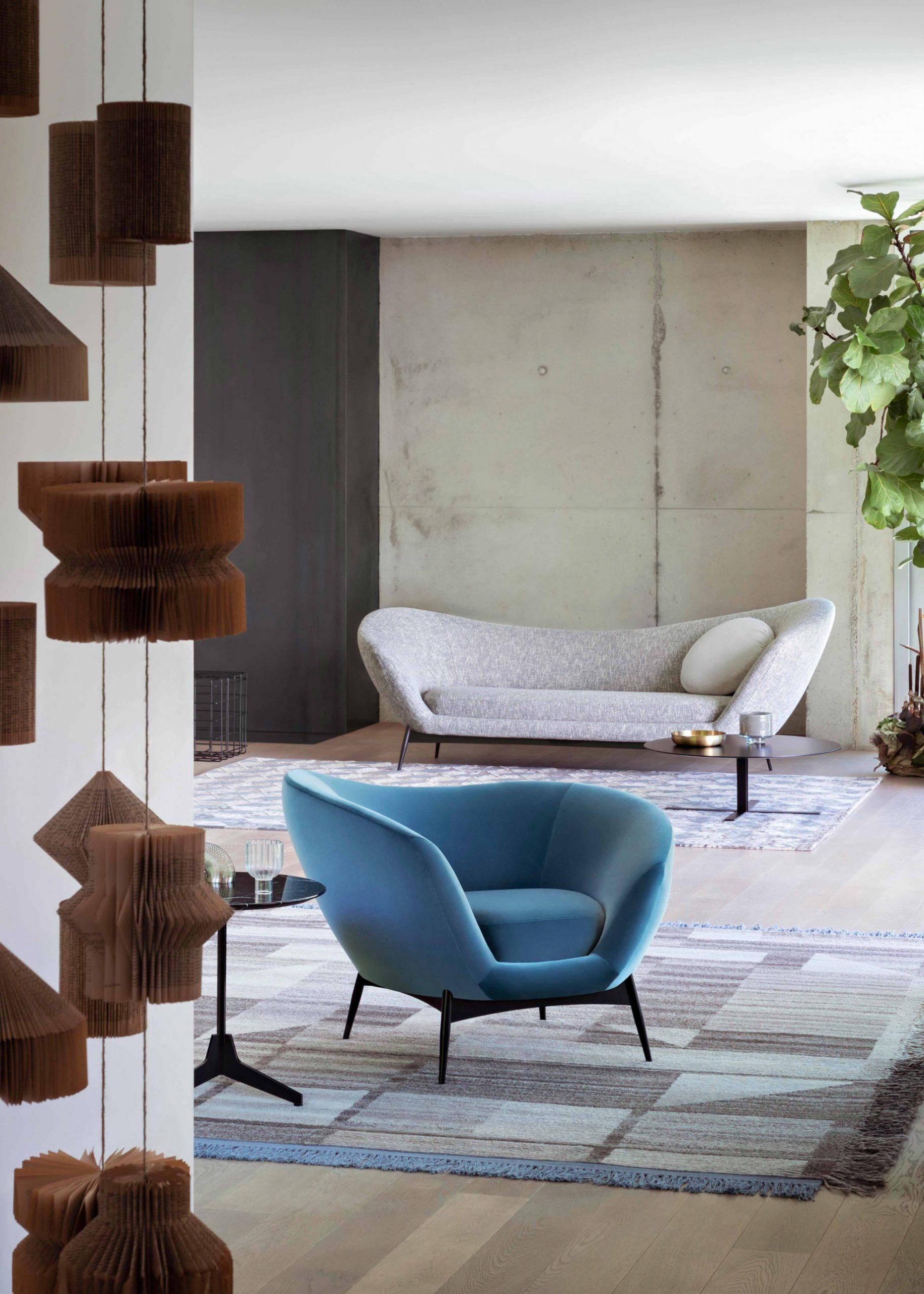 Soulful and Visionary Oltremare Modern Seating Collection by Saba Italia