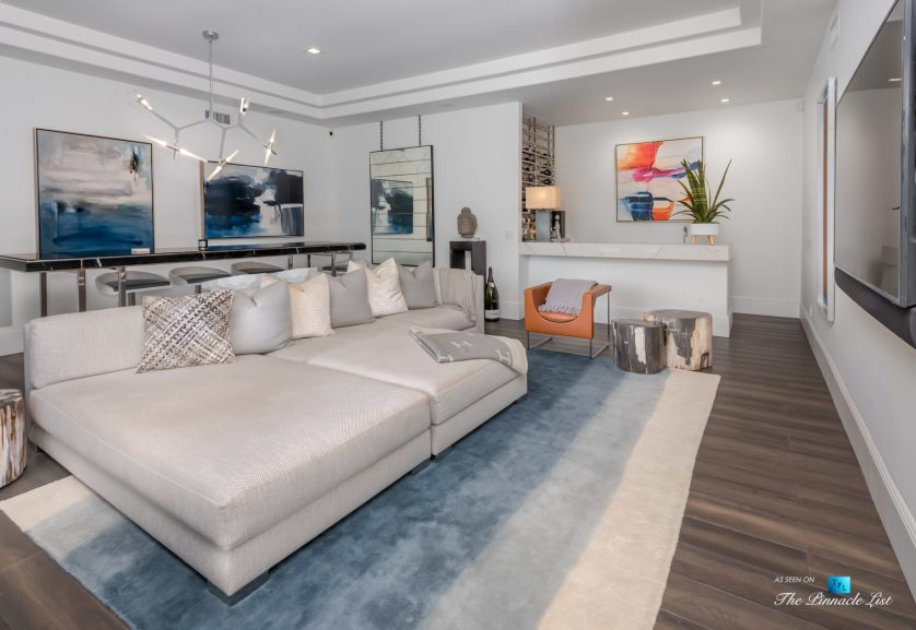 2720 Ellison Dr, Beverly Hills, CA, USA - Recreation Room and Bar - Luxury Real Estate - Italian Villa Hilltop Home