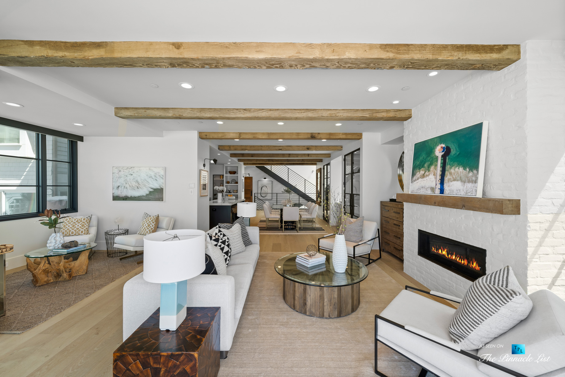 508 The Strand, Manhattan Beach, CA, USA – Living and Dining Room – Luxury Real Estate – Oceanfront Home