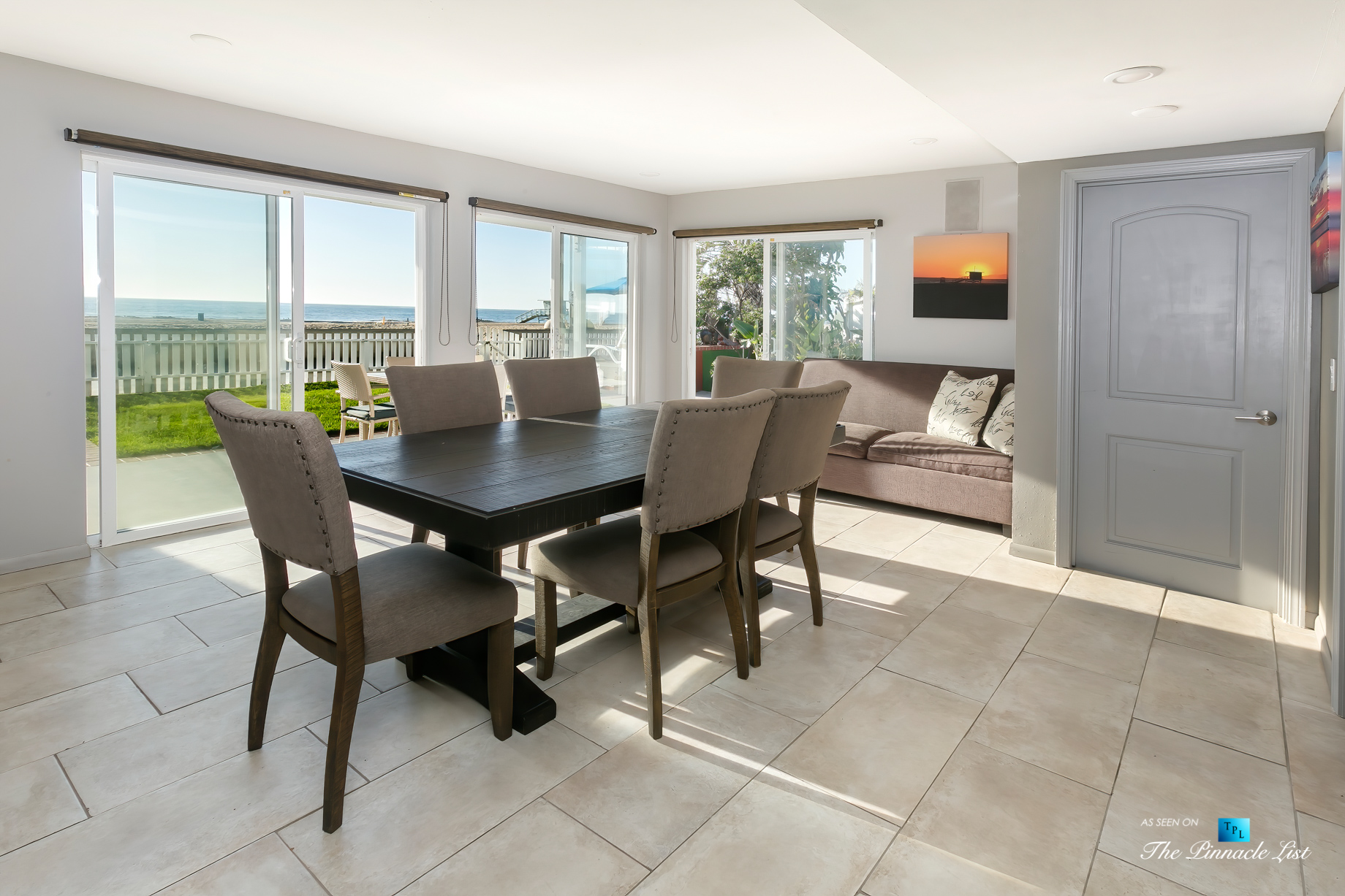 3500 The Strand, Hermosa Beach, CA, USA - Dining Area – Luxury Real Estate – Original 90210 Beach House - Oceanfront Home