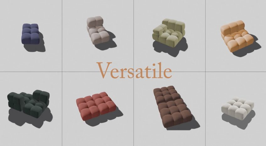 Camaleonda Classic Sofa Collection B&B Italia - Mario Bellini - Versatile