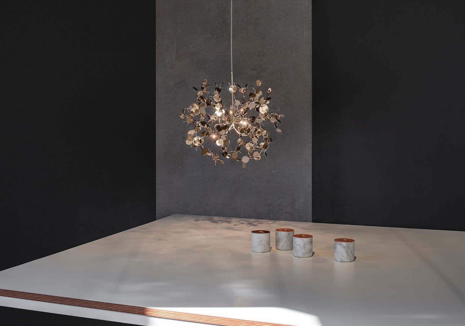 A Precious Cloud Sculpture of Light - Argent Fixtures by Terzani Lighting Italy - Single Element Suspension