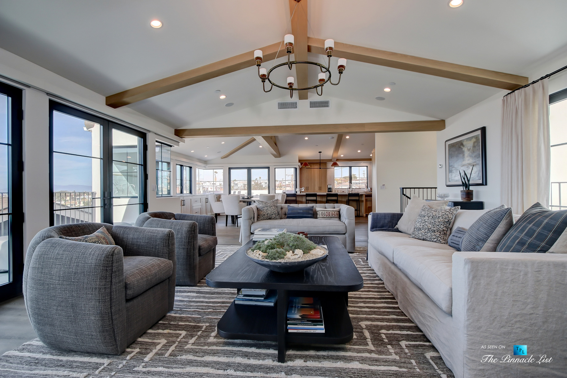 825 Highview Ave, Manhattan Beach, CA, USA - Living Room and Kitchen - Luxury Real Estate - Modern Spanish Home