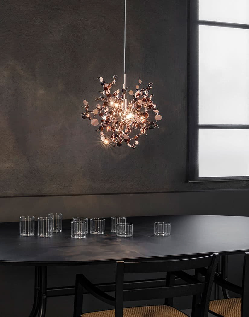 A Precious Cloud Sculpture of Light – Argent Fixtures by Terzani Lighting Italy – Single Element Gold