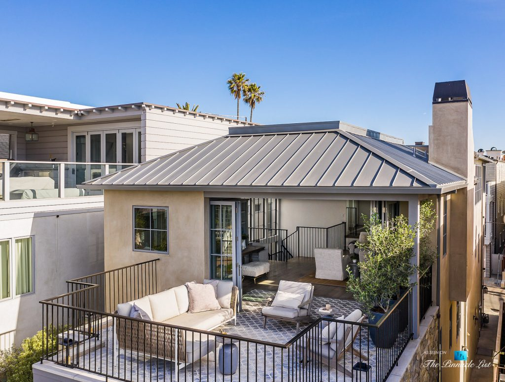220 8th St, Manhattan Beach, CA, USA - Luxury Real Estate - Ocean View Dream Home - Aerial View Sundeck and Living Room