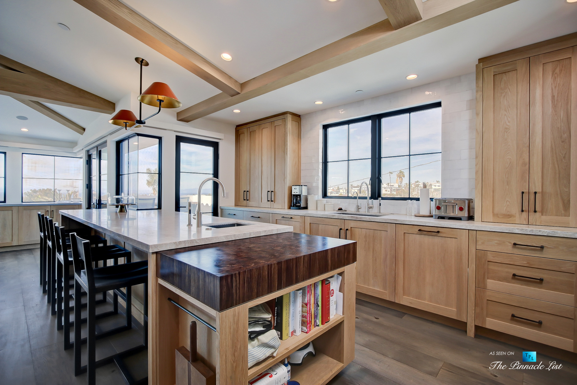 825 Highview Ave, Manhattan Beach, CA, USA - Kitchen Butcher Block Island - Luxury Real Estate - Modern Spanish Home