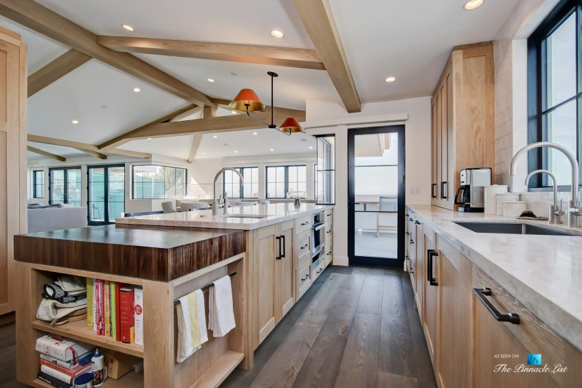 825 Highview Ave, Manhattan Beach, CA, USA - Kitchen and Butcher Block Island - Luxury Real Estate - Modern Spanish Home