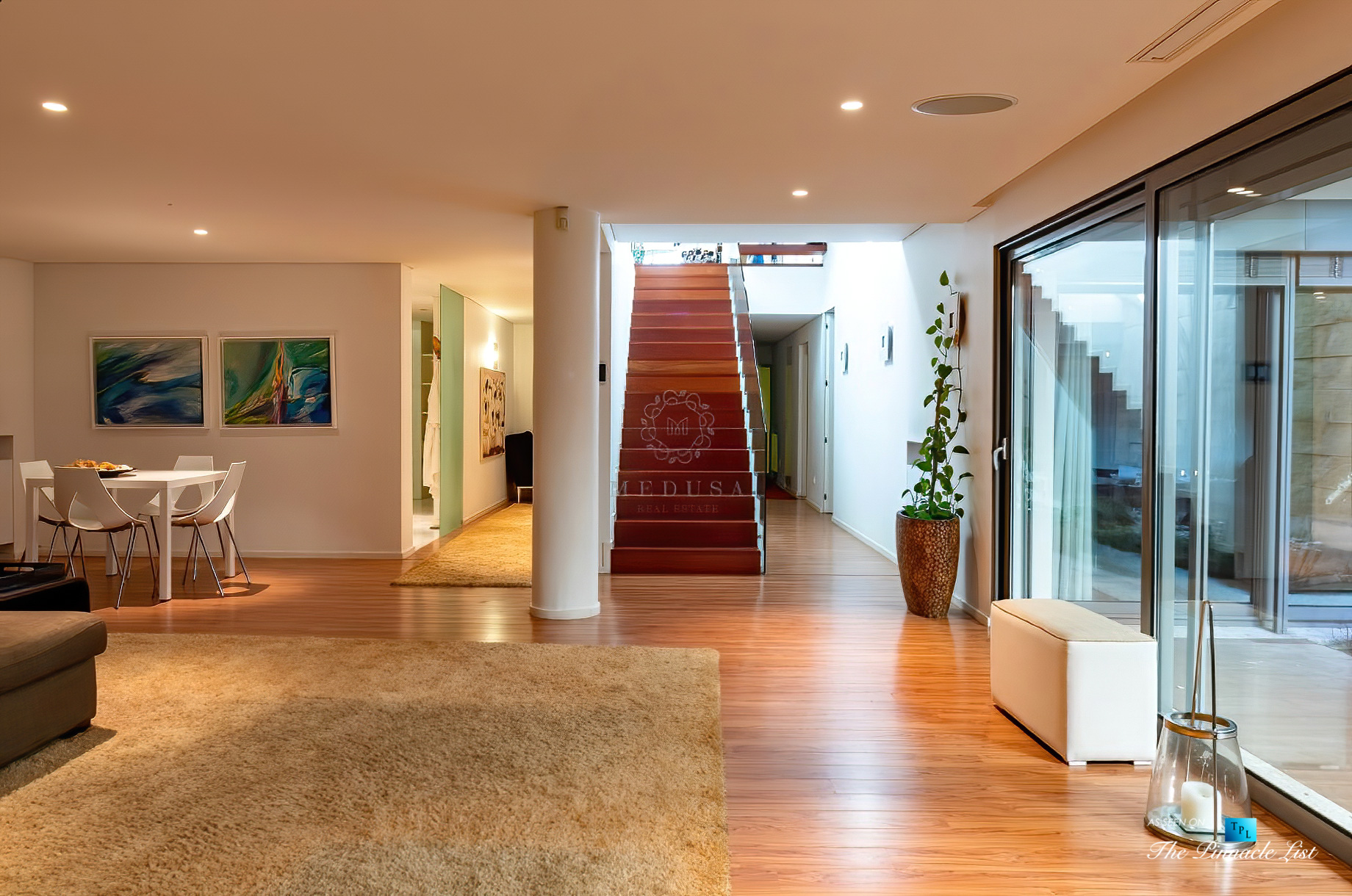 Francelos Beach Luxury T5 Villa – Porto, Portugal – Lower Level Stairs – Luxury Real Estate – Modern Home