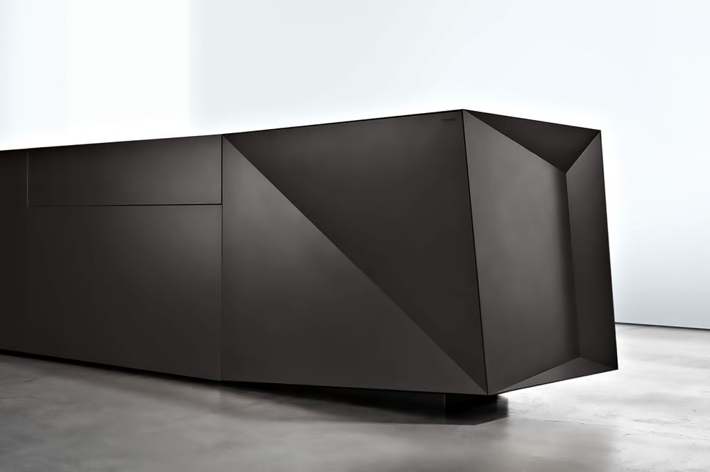 Iconic Steininger FOLD High Tech Kitchen Block Design Inspired by Origami - Formidable Black