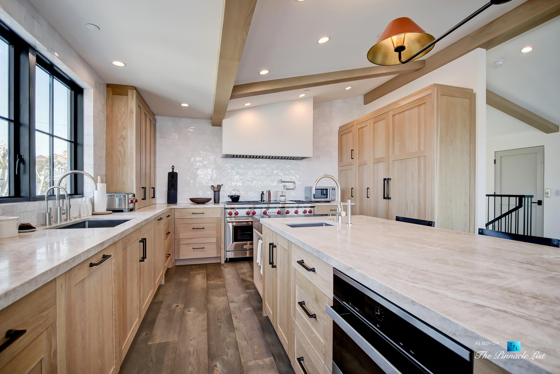 825 Highview Ave, Manhattan Beach, CA, USA – Kitchen and Island – Luxury Real Estate – Modern Spanish Home