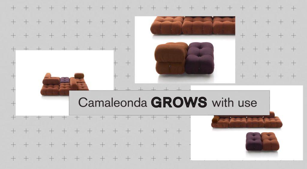 Camaleonda Classic Sofa Collection B&B Italia - Mario Bellini - Camaleonda Grows With Use