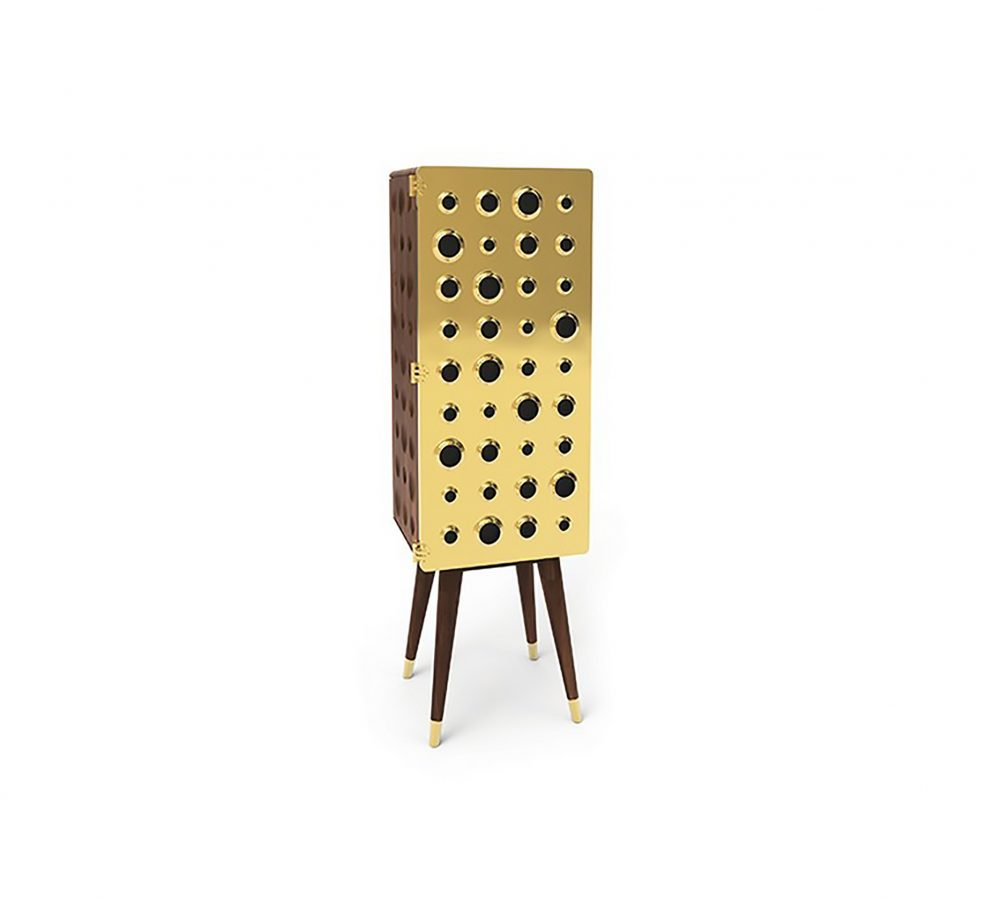 MONOCLES Tall Cabinet - Essential Home - DelightFULL Modern Retro Design