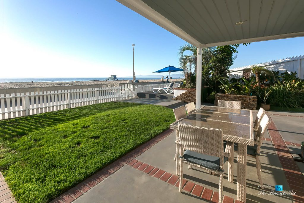 3500 The Strand, Hermosa Beach, CA, USA - Outdoor Covered Patio – Luxury Real Estate – Original 90210 Beach House - Oceanfront Home