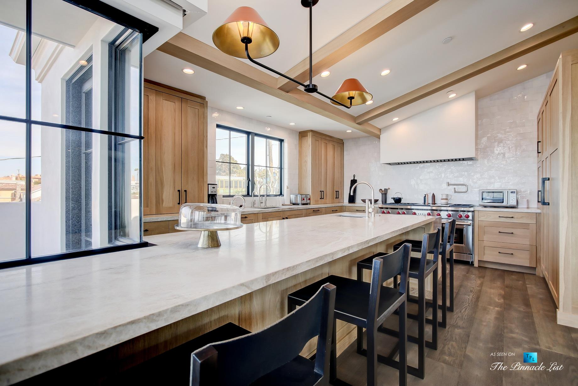 825 Highview Ave, Manhattan Beach, CA, USA – Kitchen with WOLF Gas Range – Luxury Real Estate – Modern Spanish Home