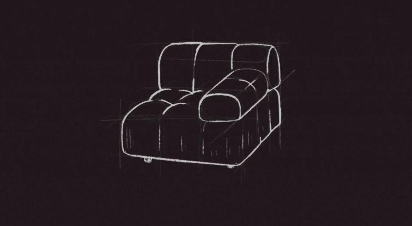 Camaleonda Classic Sofa Collection B&B Italia - Mario Bellini - Sketch