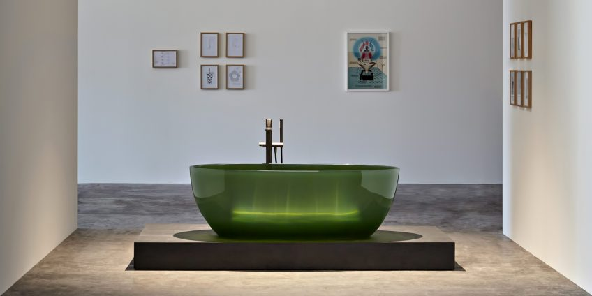 Transparent REFLEX Cristalmood Resin Luxury Bathtub by AL Studio - Bottiglia