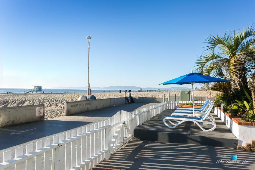 3500 The Strand, Hermosa Beach, CA, USA - Beachfront Sundeck – Luxury Real Estate – Original 90210 Beach House - Oceanfront Home