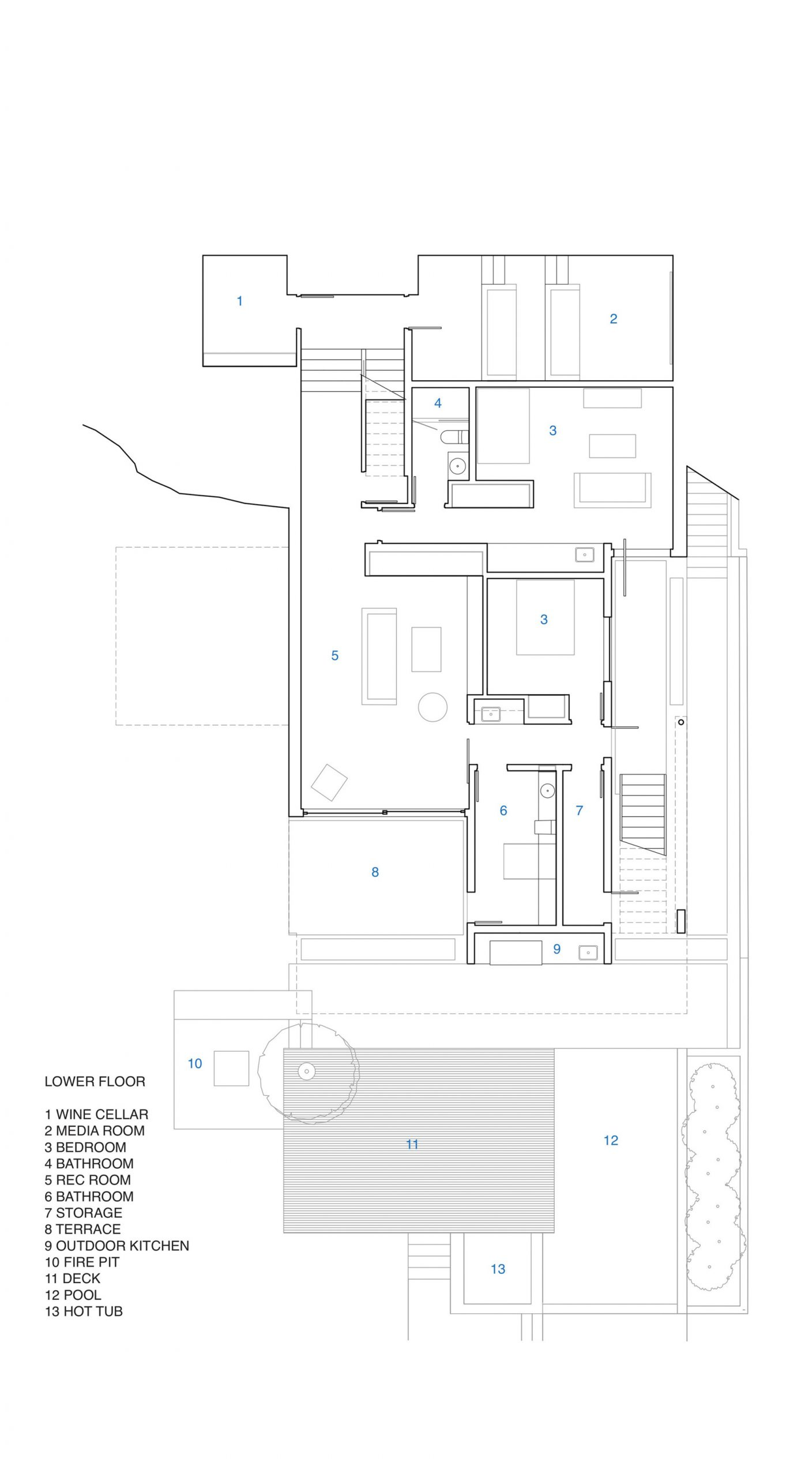 Floor Plans - Russet Residence Modern Luxury - Russet Pl, West Vancouver, BC, Canada