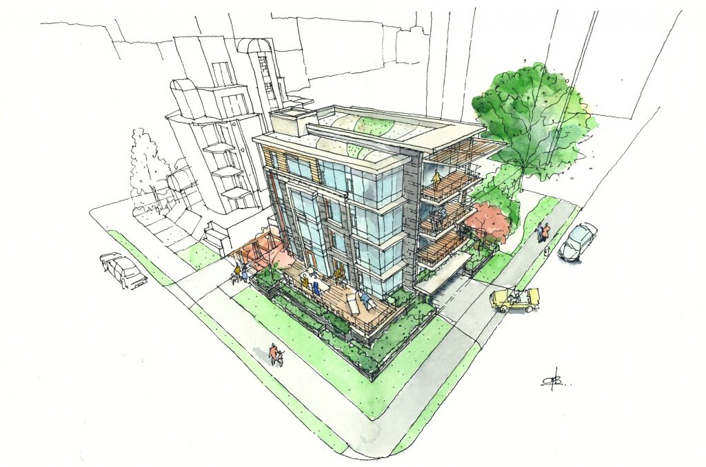 Render - Eventide Ultra Luxury English Bay Homes - 1460 Bute St, Vancouver, BC, Canada