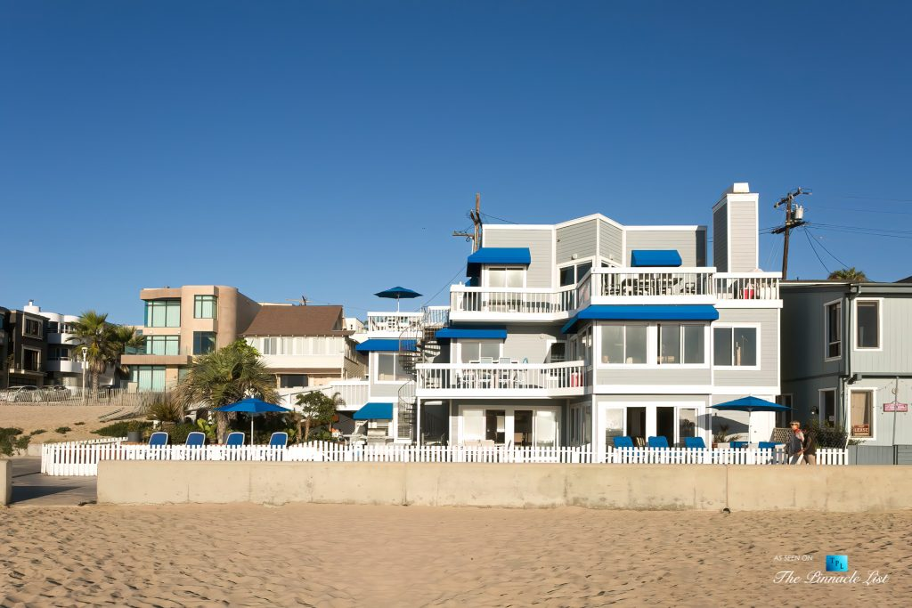 3500 The Strand, Hermosa Beach, CA, USA - Beachfront Front View – Luxury Real Estate – Original 90210 Beach House - Oceanfront Home