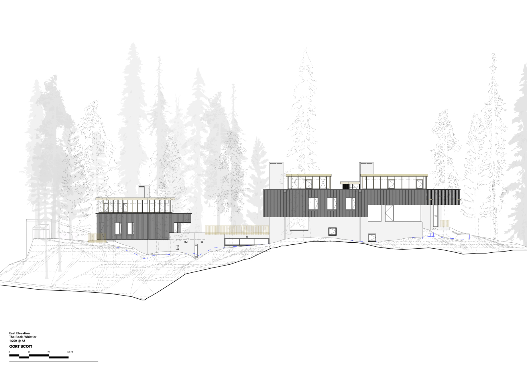 Elevations – The Rock Luxury Estate Residence – Hillcrest Lane, Whistler, BC, Canada